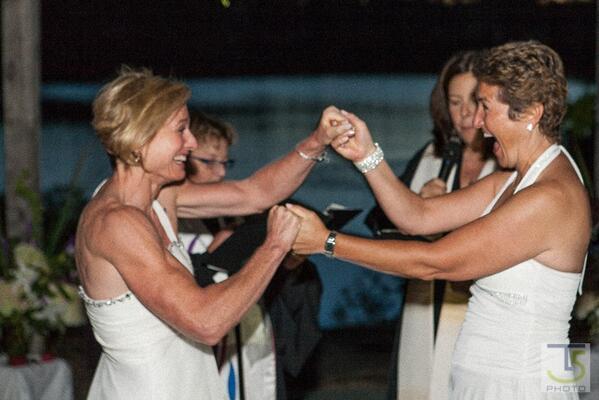 "@Mebutke: ""Sen. @DonnaNesselbush married Kelly Carse after passing #ssm  Beautiful brides!"""
