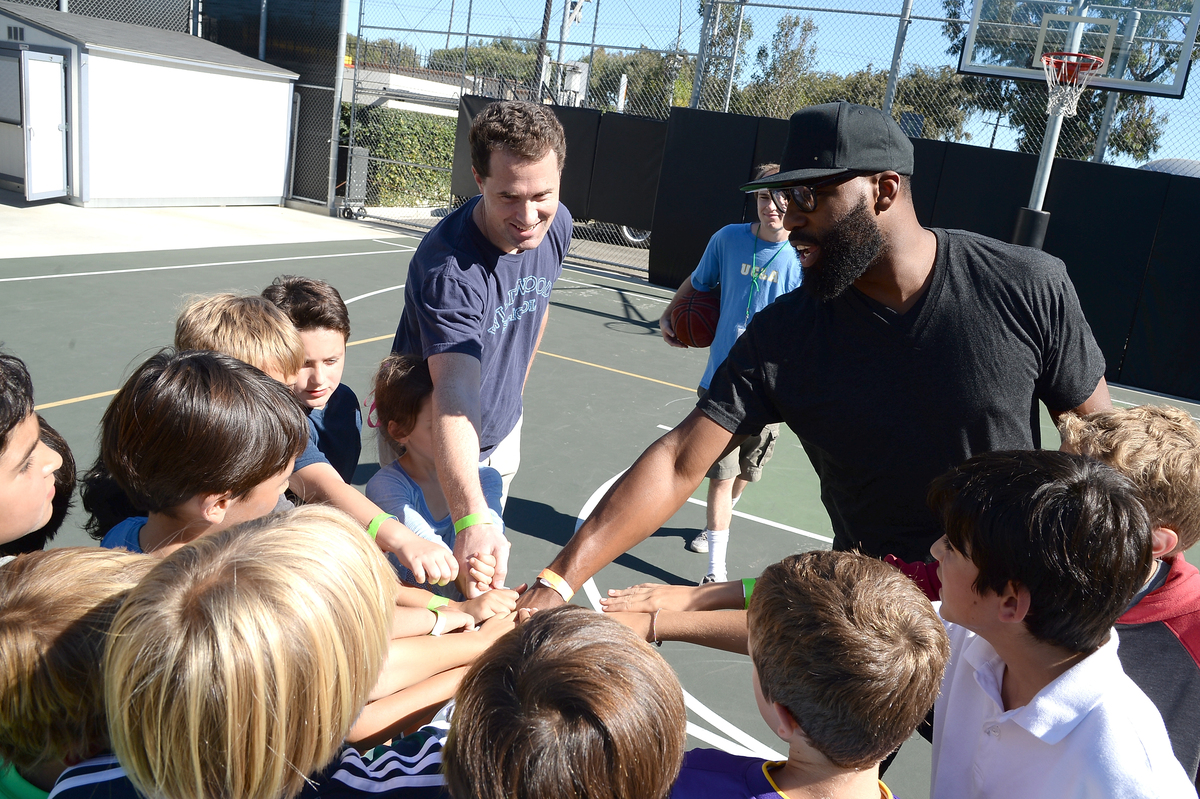 NBA Basketball player Baron Davis attends the 2nd Annual GameOn! fundraiser hosted by Common Sense Media at Sony Pictures Stu