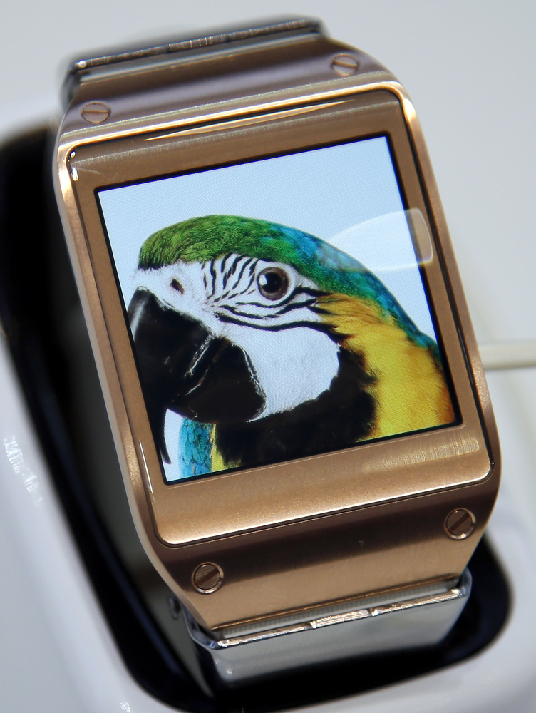 A Samsung Galaxy Gear Smartwatch is displayed at the IFA, one of the world's largest trade fairs for consumer electronics and