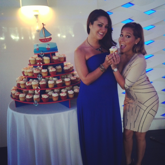 Paula and actress/singer Adrienne Bailon.
