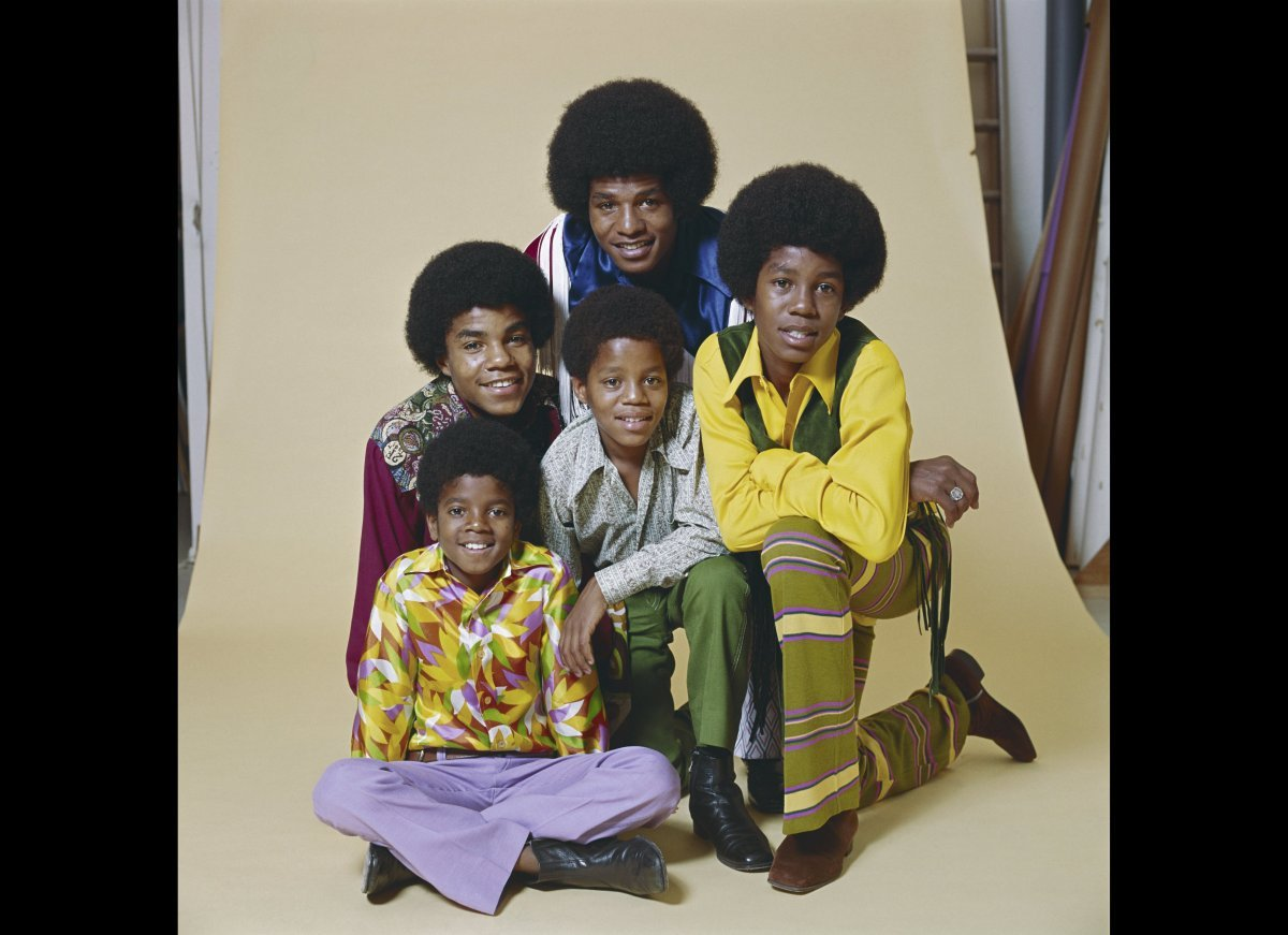 CIRCA 1968: R&B quintet 'Jackson 5' pose for a portrait in circa 1968. Clockwise from bottom left: Michael Jackson, Tito Jack