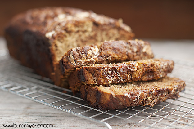 "<strong>Get the <a href=""http://www.bunsinmyoven.com/2012/01/29/hot-fudge-fluffernutter-banana-bread/"" target=""_blank"">Hot Fu"