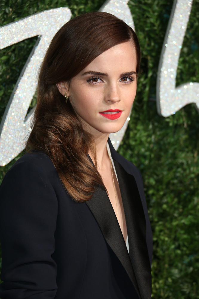 LONDON, ENGLAND - DECEMBER 01:   Emma Watson attends the British Fashion Awards at London Coliseum on December 1, 2014 in Lon