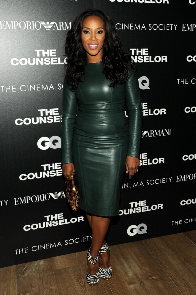 NEW YORK, NY - OCTOBER 09: June Ambrose attends the Emporio Armani with GQ & The Cinema Society screening of 'The Counselor'