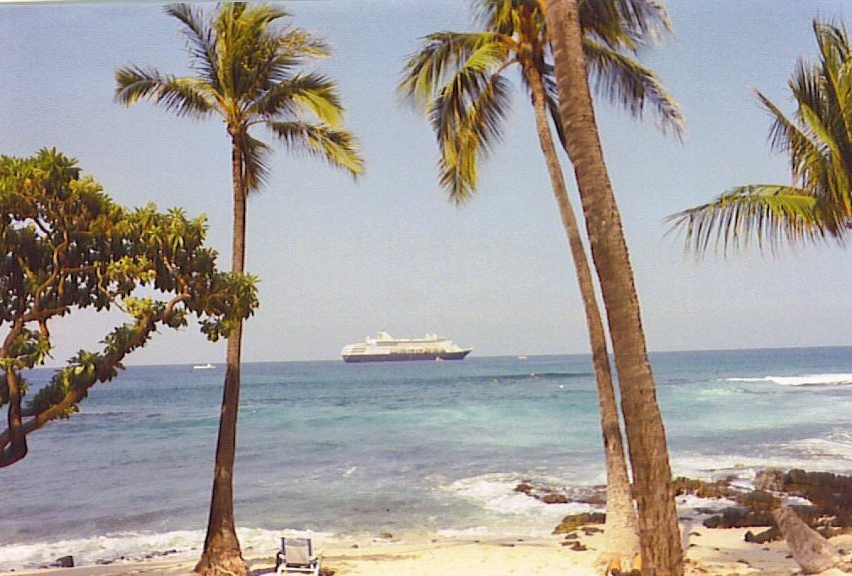 There's nothing like hot sand, a warm ocean and lazy palm trees to help any city dweller relax on the Big Island.  (Photo cou