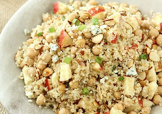 """<strong>Get the <a href=""""http://www.cookincanuck.com/2012/10/quinoa-salad-with-apple-chickpeas-toasted-almonds-apple-cider-vi"""