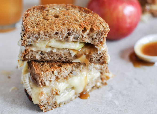 """<strong>Get the <a href=""""http://www.howsweeteats.com/2012/10/caramel-apple-grilled-cheese/"""" target=""""_blank"""">Caramel Apple Gri"""
