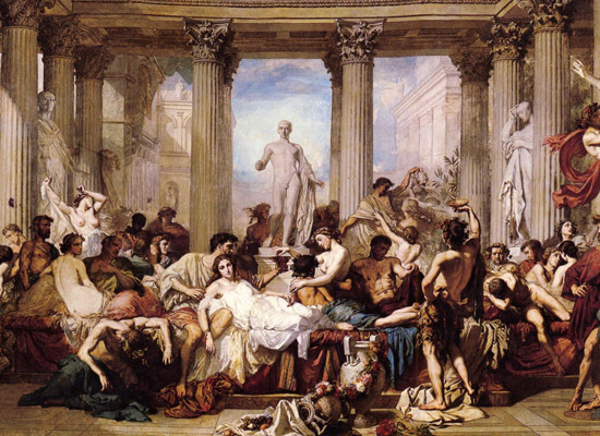 Possibly the most famous and most extravagant dinner party in literary history. The ebullient host is Gaius Pompeius Trimalch