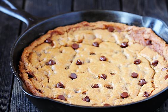 "<strong>Get the <a href=""http://www.gimmesomeoven.com/skillet-chocolate-chip-cookie/"" target=""_blank"">Skillet Chocolate Chip"