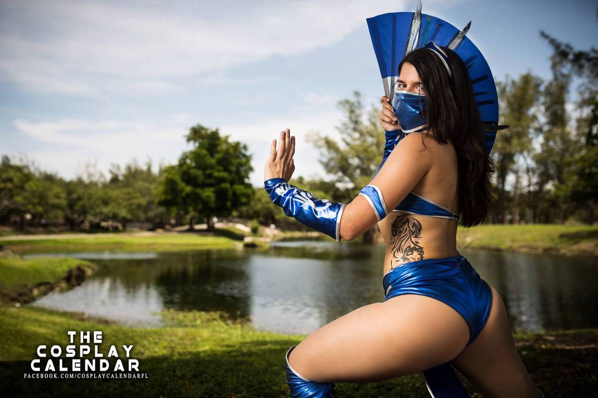 Miami Beach's Nikki Wulf, a.k.a. Azuki, as Kitana from Mortal Kombat. Photography by Christopher Chin-Sang.