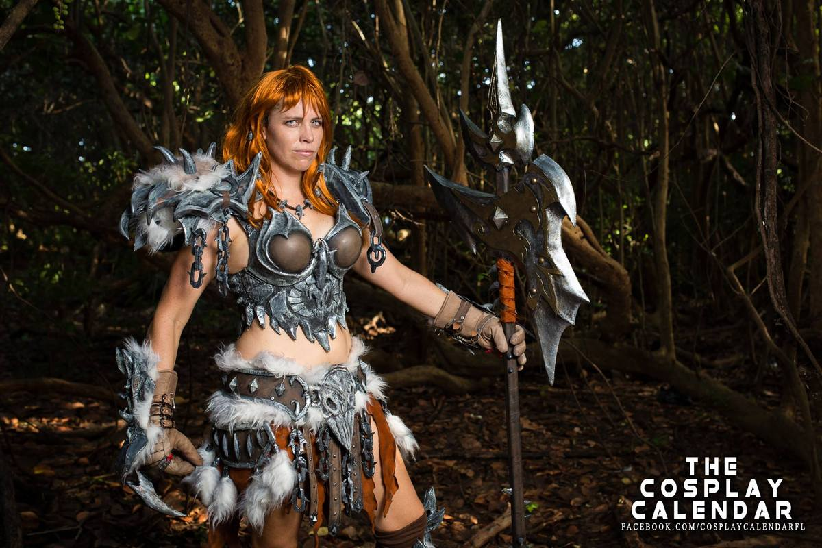 """Boca Raton's Technically Toki as Female Barbarian from """"Diablo."""" Photography by Christopher Chin-Sang."""