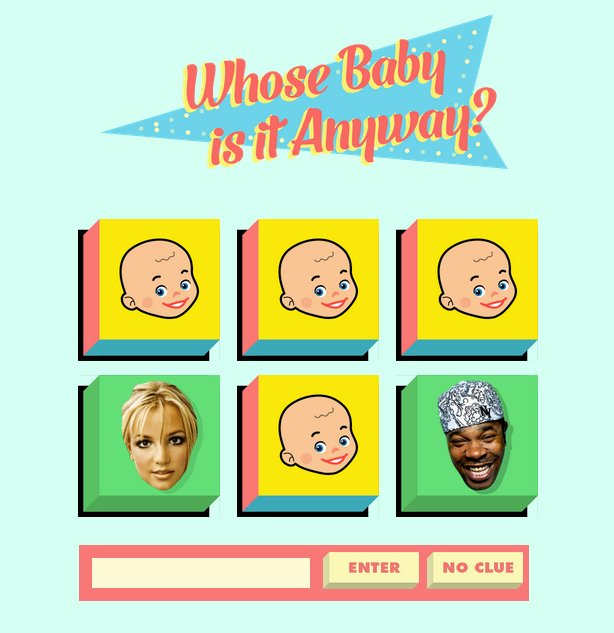"Can you tell which ""Baby"" belongs to which singer?<a href=""http://whosebabyisitanyway.com/"" target=""_blank""> Prove it.</a>"