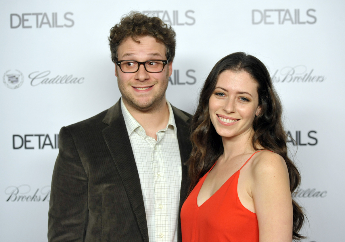 """She was in our closet, changing, and she was literally only in her underpants,"" Rogen <a href=""http://www.people.com/people/"