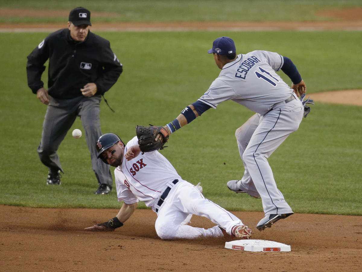 """The Red Sox <a href=""""http://atmlb.com/1aGl0OA"""" target=""""_blank"""">led the league in stolen bases</a> but were also tied for the"""