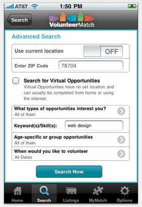Like an online dating site, VolunteerMatch pairs your volunteer interests with similar opportunities in your area. From grant