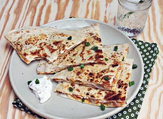 "<strong>Get the <a href=""http://www.abeautifulmess.com/2012/09/pumpkin-and-sweet-onion-quesadilla.html"">Pumpkin and Sweet Oni"