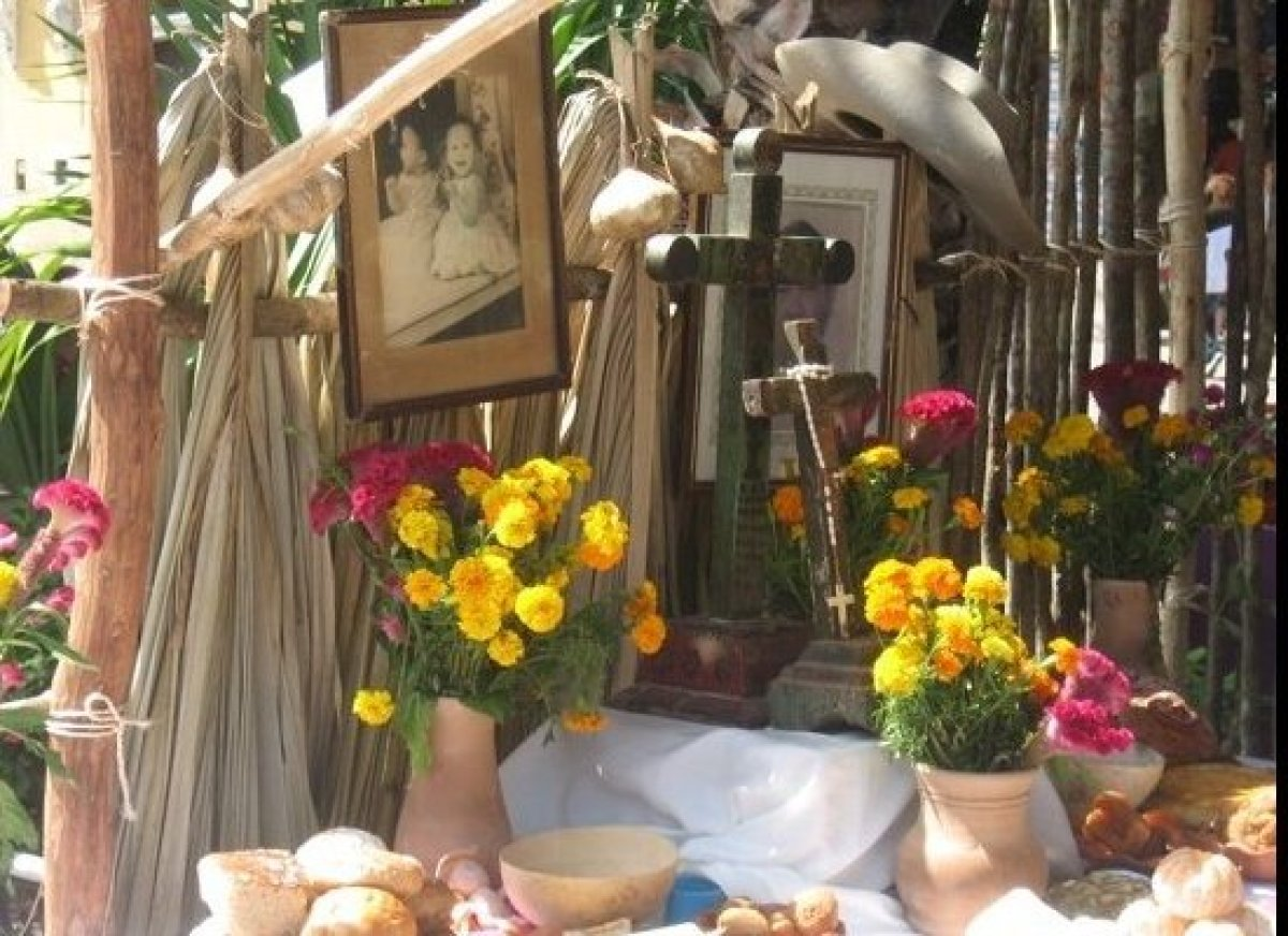 """In Mexico, shrines to the deceased are built to celebrate Dia de los Muertos. Photo courtesy Suzan Haskins, <a href=""""http://i"""