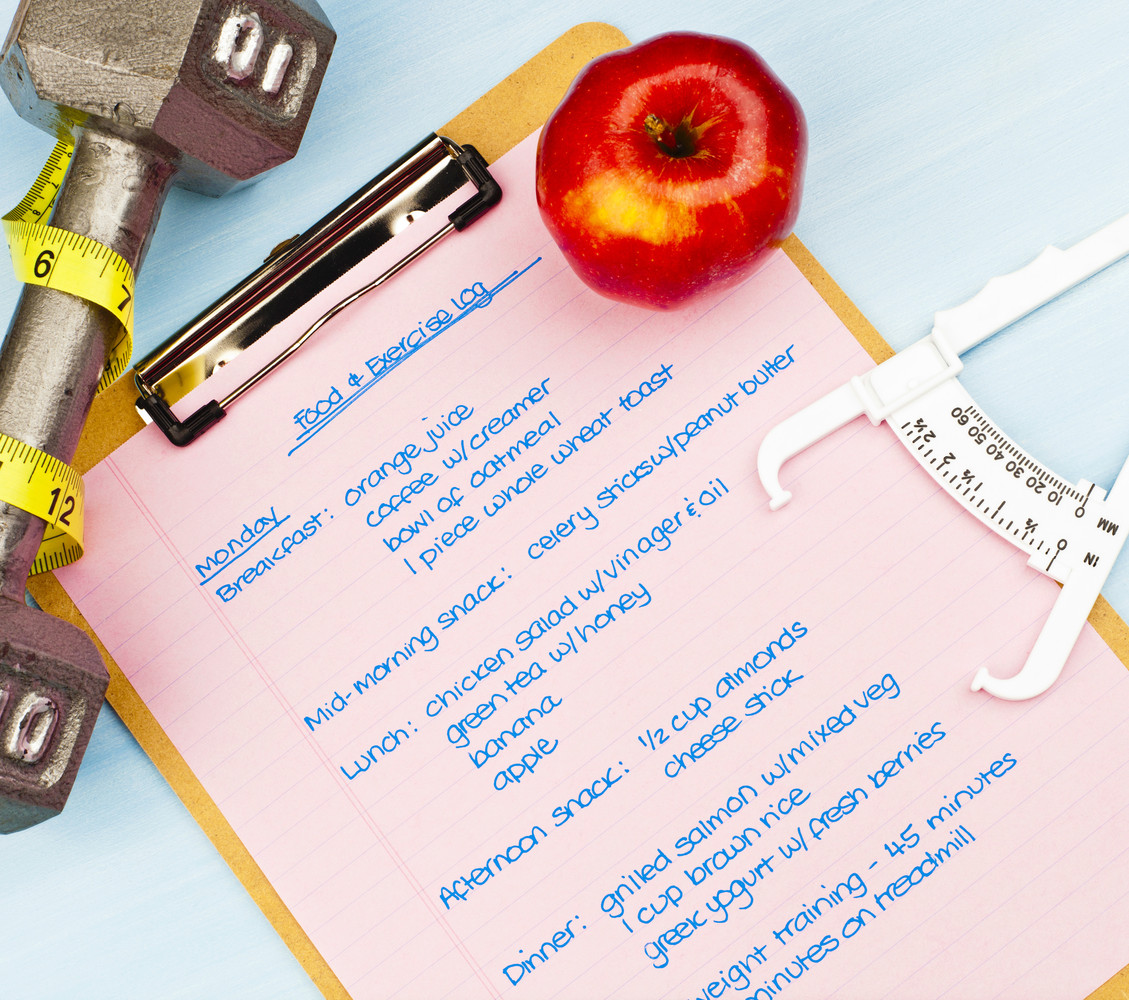 According to the National Weight Control Registry, most people who are successful in keeping their weight down record what th