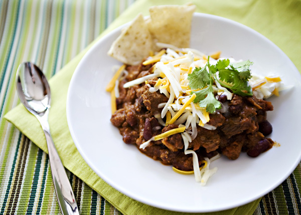 "<strong>Get the <a href=""http://bakedbree.com/nigellas-chocolate-chip-chili"" target=""_blank"">Nigella's Chocolate Chip Chili R"