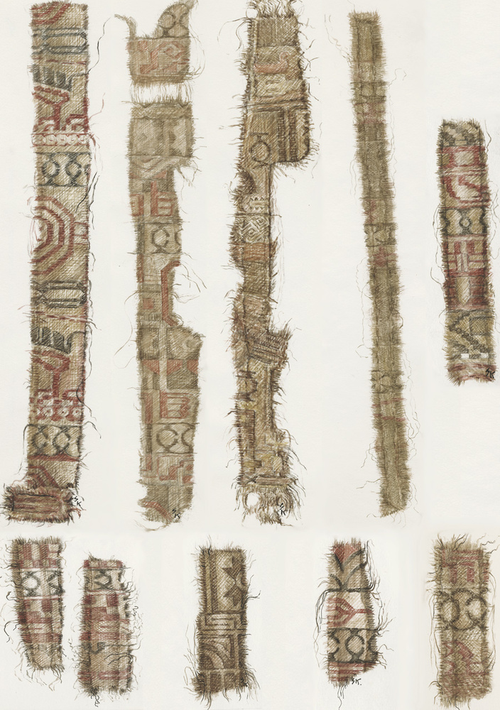 Silk from Oseberg.