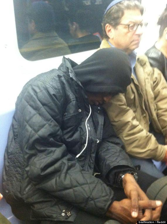 "Redditor Braffination wrote, ""Heading home on the Q train yesterday when this young black guy nods off on the shoulder of a J"