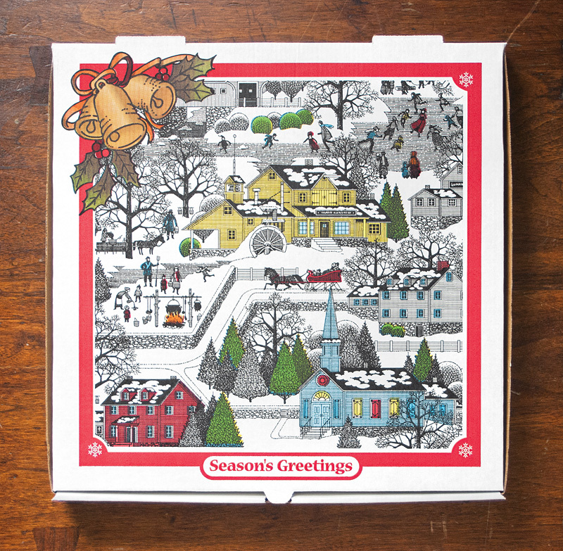 """""""Season's Greetings."""" This box earned a bronze medal at the International Flexographic Printing Competition for RockTenn's Wa"""
