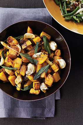 Ina Garten's maple-roasted, pancetta-studded butternut squash is a breeze to make and incredibly versatile, too. You spread t