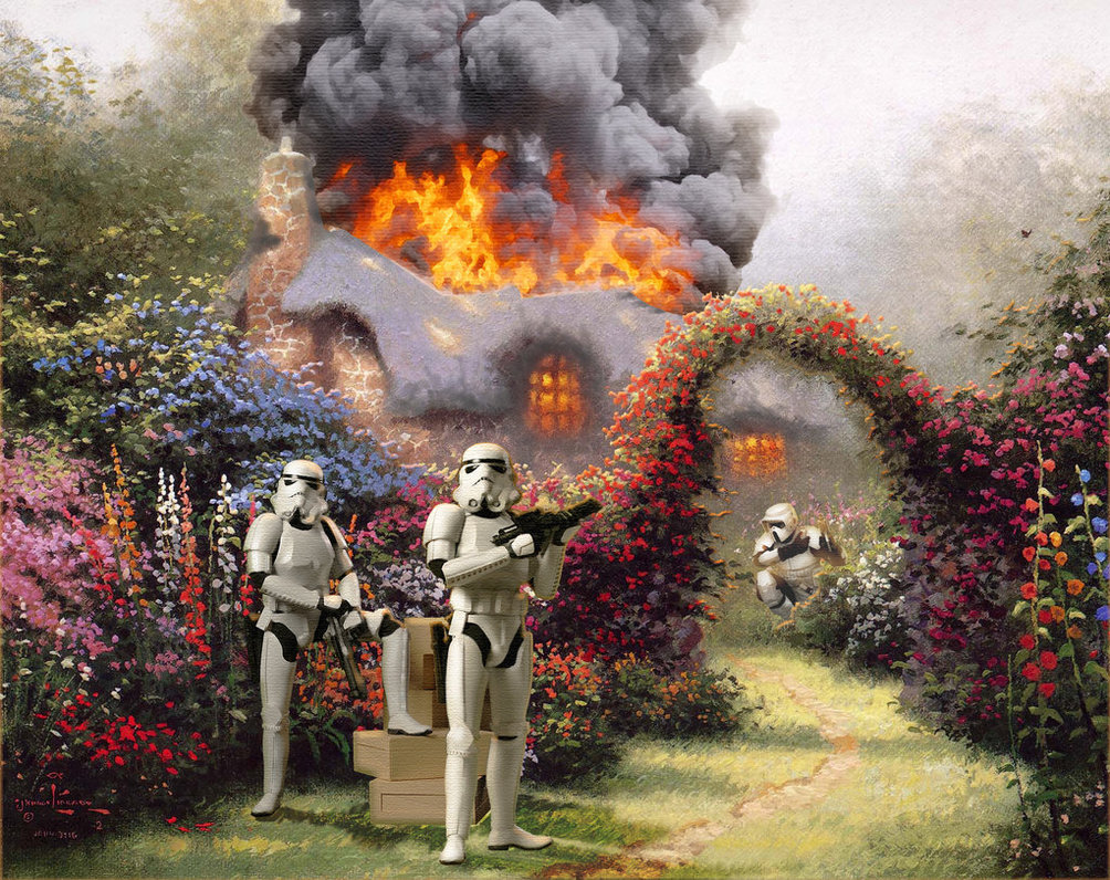 These Stormtroopers are not a fan of your house, Kinkade.