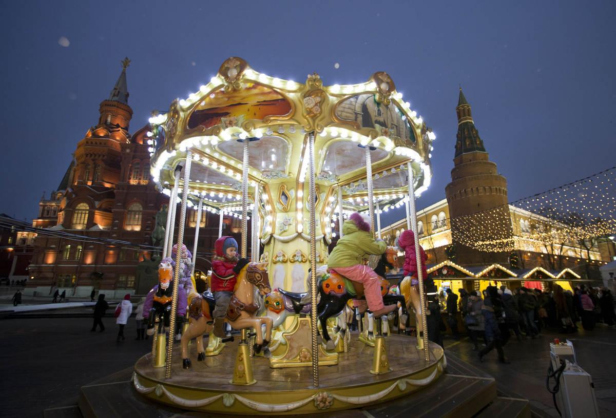 Christmas Markets!! Like this one in Moscow...  (AP Photo/Alexander Zemlianichenko)