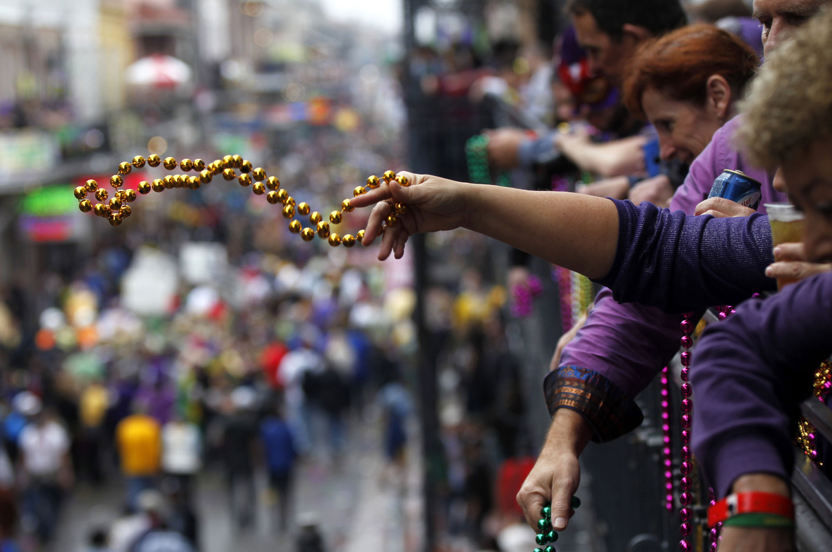 And if you hate winter, hey, there's always Mardi Gras, which unofficially starts the march towards spring. (AP Photo/Gerald