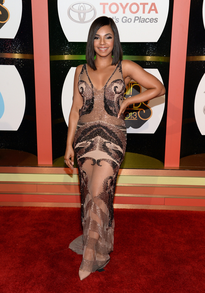 LAS VEGAS, NV - NOVEMBER 08:  Singer Ashanti attends the Soul Train Awards 2013 at the Orleans Arena on November 8, 2013 in L
