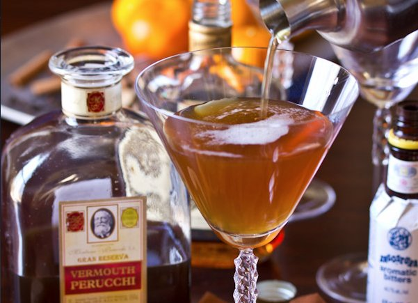 """<strong>Get the <a href=""""http://www.aspicyperspective.com/2012/11/manhattan-cocktail-recipe.html"""" target=""""_blank"""">Spiced Manh"""