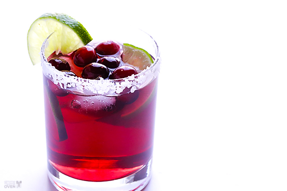 """<strong>Get the <a href=""""http://www.gimmesomeoven.com/cranberry-margaritas/"""" target=""""_blank"""">Cranberry Margaritas Recipe</a>"""