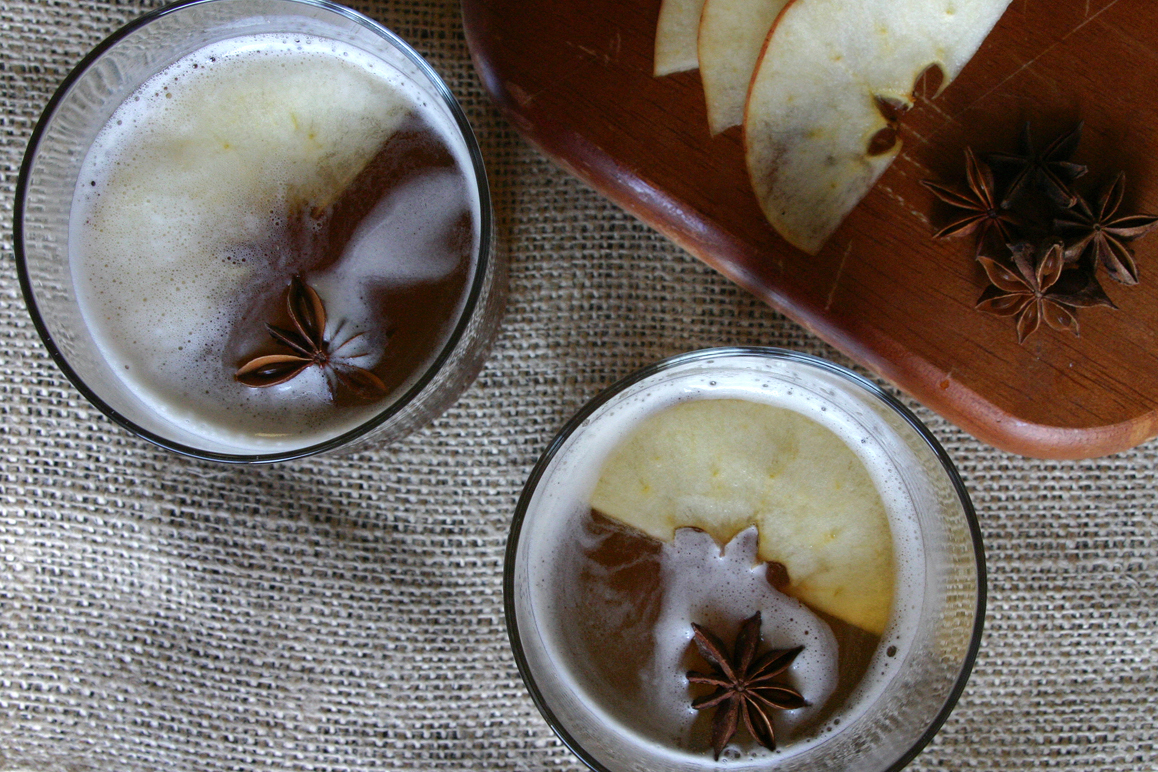 """<strong>Get the <a href=""""http://food52.com/recipes/15664-spiced-cider-cocktail"""" target=""""_blank"""">Spiced Cider Cocktail Recipe<"""