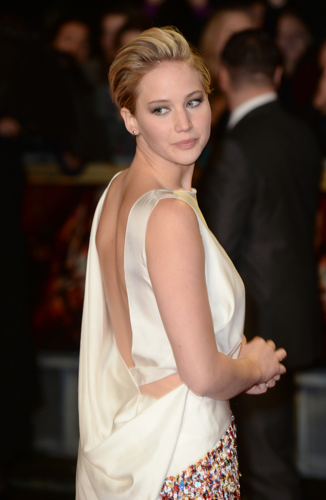 Jennifer Lawrence arriving at the World Premiere of 'The Hunger Games: Catching Fire', Odeon Cinema, Leicester Square, London