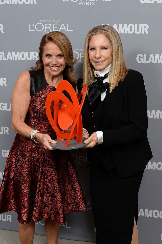 NEW YORK, NY - NOVEMBER 11:  Katie Couric and Barbra Streisand attend Glamour's 23rd annual Women of the Year awards on Novem