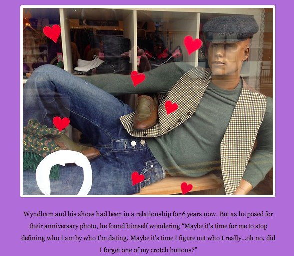 """Mannequins are <a href=""""http://mannequindepressed.tumblr.com/"""" target=""""_blank"""">a lot deeper</a> than we thought."""