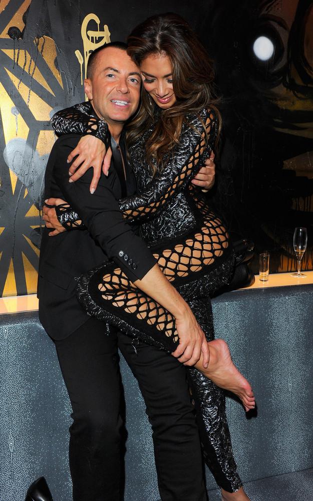 Julien Macdonald and Nicole Scherzinger attend the first anniversary party of Sushi Samba at Sushi Samba on November 12, 201