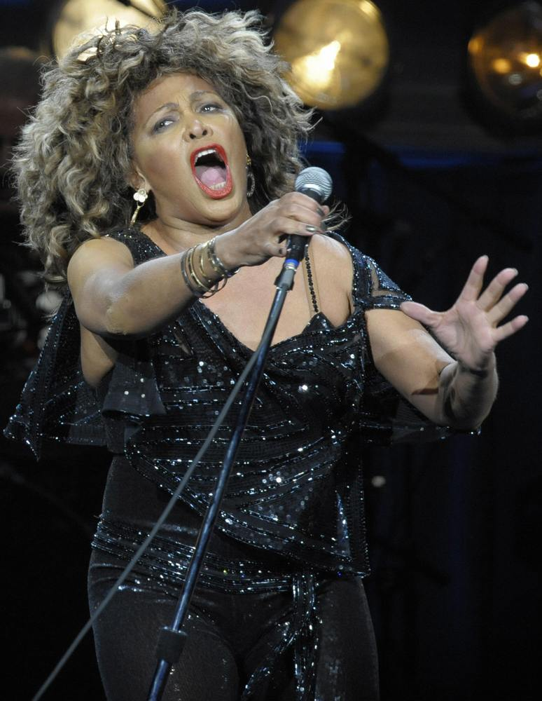 US singer Tina Turner performs on stage at the O2-World venue in Berlin on January 26, 2009. Turner, 69, actually tours Europ
