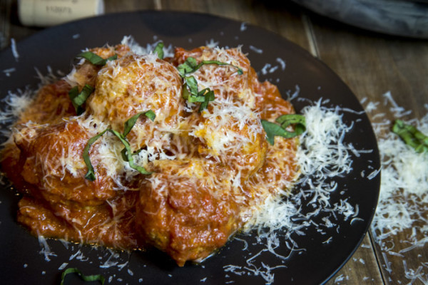 "<strong>Get the <a href=""http://peachesplease.com/veal-ricotta-meatballs/"" target=""_blank"">Veal & Ricotta Meatballs recipe fr"