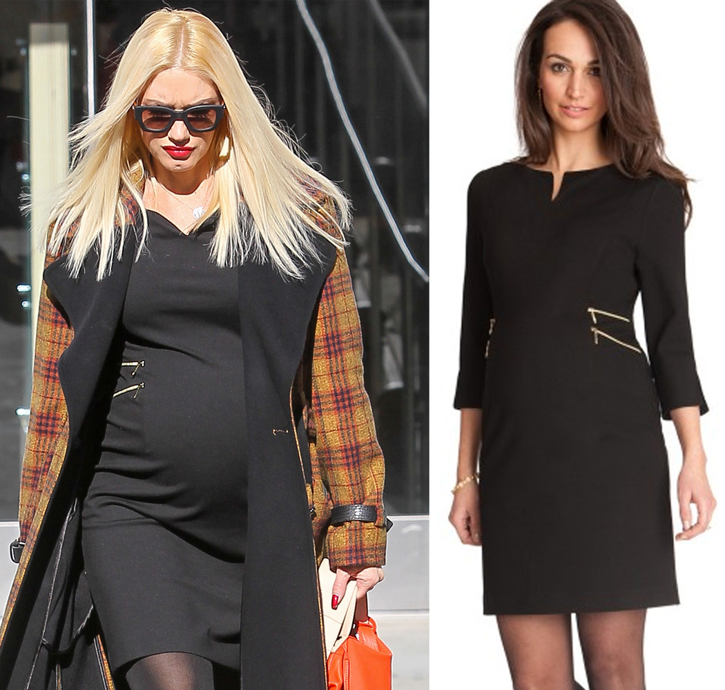 """<a href=""""http://www.seraphinematernity.com/double-side-zip-dress.html"""" target=""""_blank"""">Seraphine Black Zip Detail Maternity D"""