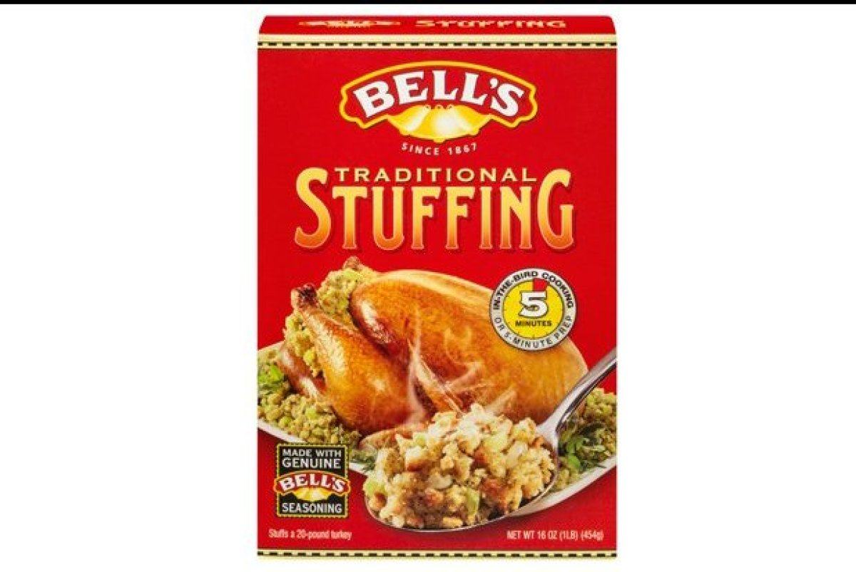 This brand came in fourth on our list. It was not the most visually appealing stuffing mix, as it had a slight green color an