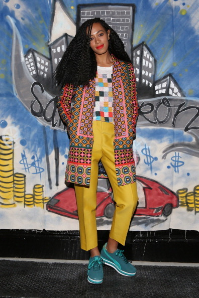 NEW YORK, NY - NOVEMBER 10: Singer Solange Knowles celebrates the release of her 'Saint Heron' compilation album outside Open