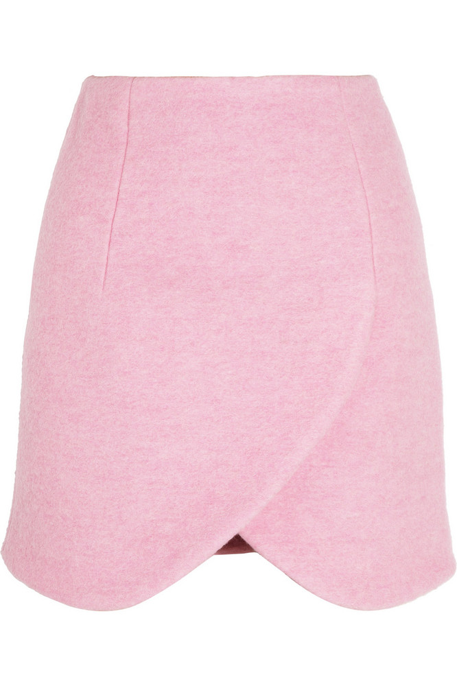 "<a href=""http://www.net-a-porter.com/product/383162"" target=""_hplink"">Carven skirt, $350</a>  Pink is the color of the season"