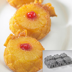 This mini pineapple upside-down cake pan is both on-trend (cakelets: so hot right now) and retro (when's the last time you ha