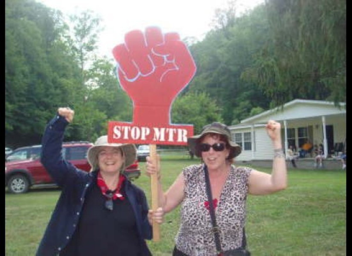 Filmmakers/artists Beth Stephens (left) and Annie Sprinkle go tell it on the mountain—literally—in West Virginia.  Photo: C