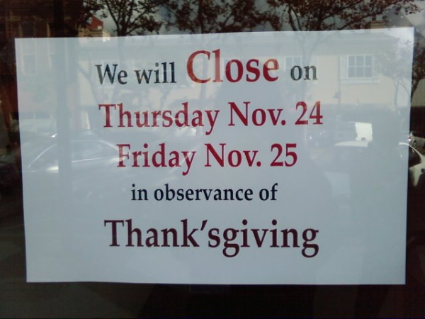 Do they close on Chris'tmas as well?