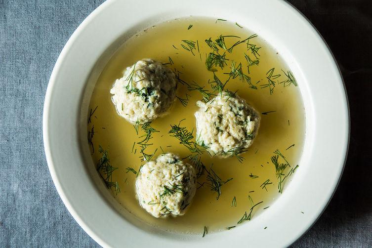 "<strong>Get <a href=""http://food52.com/recipes/21272-joan-nathan-s-chosen-matzo-ball-soup"" target=""_blank"">Joan Nathan's Chos"