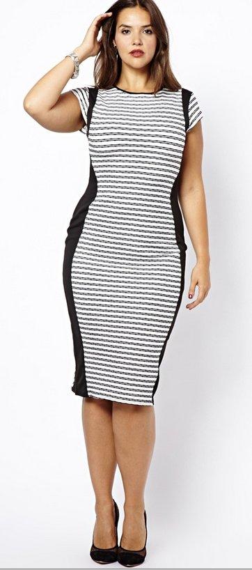 "$26 from $40, <a href=""http://us.asos.com/New-Look-Inspire-Stripe-Midi-Body-Conscious-Dress/10n4y8/?iid=3176790&cid=10528&sh="