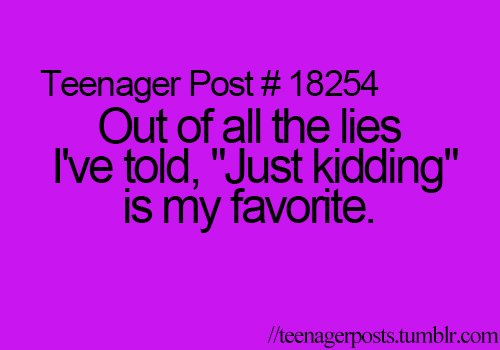 Hilarious Jokes For Teenagers Teenager Posts Of The ...